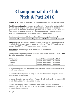 championnat-pp - Association Sportive du Golf de Saint
