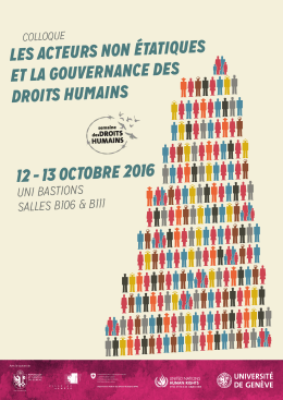 L`Affiche du colloque