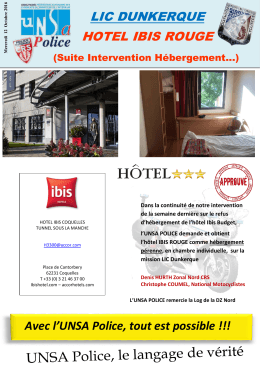 lic dunkerque hotel ibis rouge - Unsa