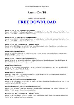 reussir delf b1 pdf