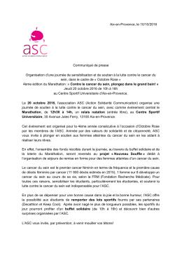 Aix-en-Provence, le 10/10/2016 Communiqué de presse