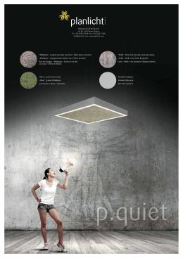 p.quiet Acoustic Luminaire