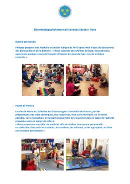aktiviteter - Svenska Skolan i Paris