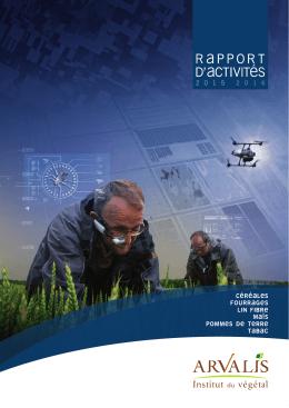 Rapport d`activités ARVALIS 2015-2016