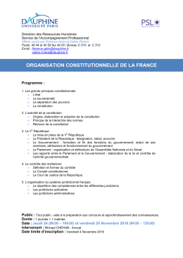 Organisation constitutionnelle ( / 384.46Ko)