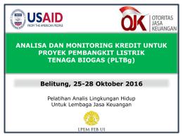 PLTBg - Indonesia Clean Energy Development