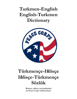 Turkmen-English English-Turkmen Dictionary