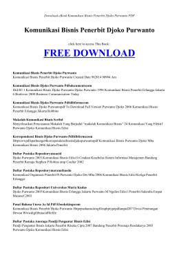 book komunikasi bisnis penerbit djoko purwanto pdf