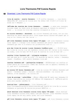 Livre Thermomix Pdf Cuisine Rapide Ebooks